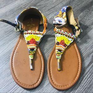 Atmosphere Boho Beaded Festival Sandals Size 6/39